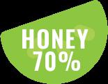 honey 70%
