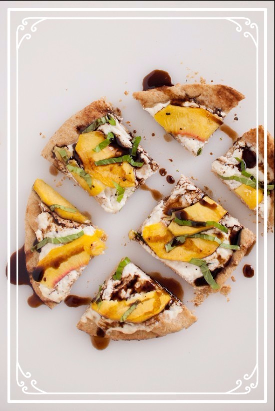 peach-basil-and-ricotta-flatbread
